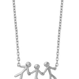 By Biehl together family 3 halskæde i sølv. 45cm