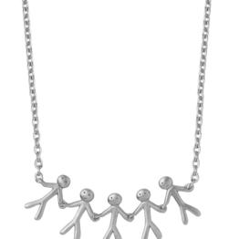 By Biehl together family 5 halskæde i sølv. 45cm