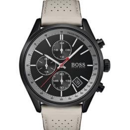Hugo Boss Grand Prix rustfrit stål, med mineral glas, og sort skive. Chronograph ur