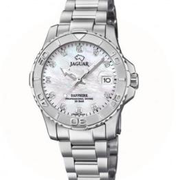 Jaguar Executive diver dame ur i rustfrit stål 316L, med safir glas, og hvid skive