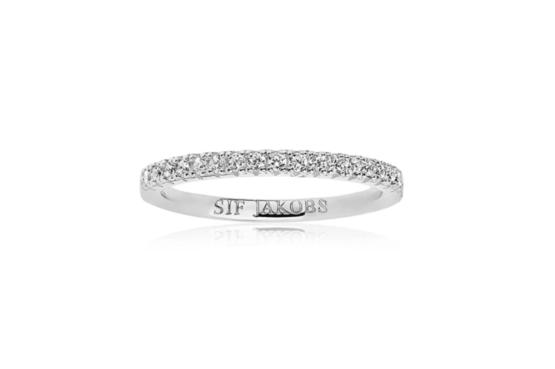 Sif Jakobs ring i sølv med hvide zirkoner 2mm