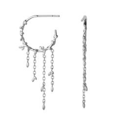 ByBiehl Jungle lvy hoops i sølv Diameter på hoop: 1,7 cm Længde på kæde: 2,5 cm