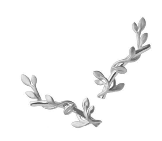 byBiehl Jungle lvy earsticks i sølv Størrelse: 2cm