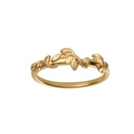 byBiehl Jungle lvy ring i 14kt forgyldt sølv. Ring størrelser: 48, 50, 52, 54, 56, 58, 60.