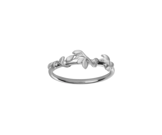 byBiehl Jungle lvy ring i sølv. Ring størrelser: 48, 50, 52, 54, 56, 58, 60.