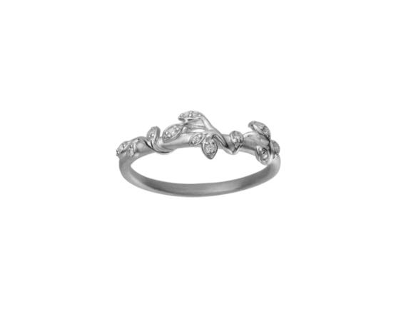 byBiehl Jungle lvy sparkle ring i t sølv med zirkoner.