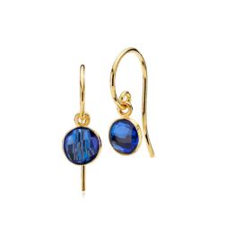 Izabel Camille øreringe i 18kt forgyldt sølv, med kongeblå doblet kvarts. *Prima Donna serien