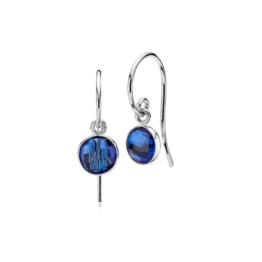 Izabel Camille øreringe i sølv, med royal blue kvarts. Mål: 7 x 18mm inkl. krog *Prima Donna serien