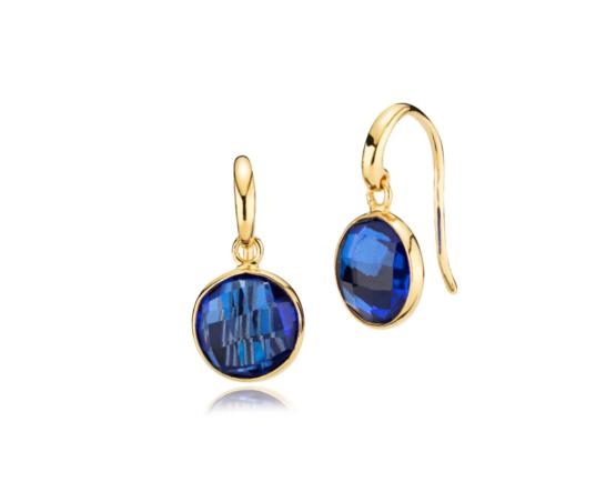 Izabel Camille øreringe i 18kt forgyldt sølv, med royal blue kvarts. *Prima Donna serien Mål: 11 x 22 mm inkl. krog