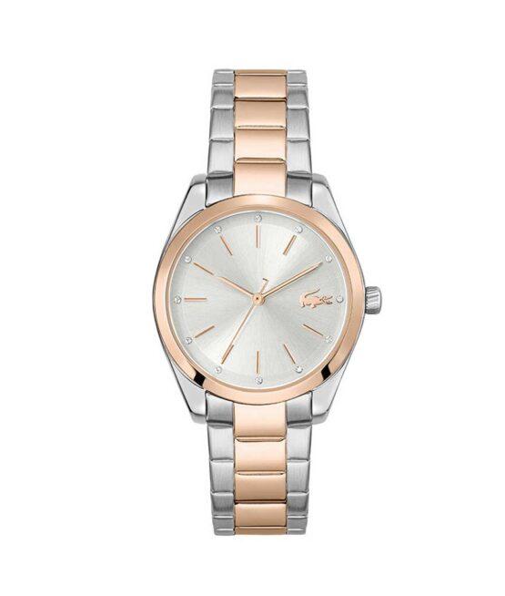 Lacoste Petite Parisienne – 2001178 – Quartz ur og vandbeskyttet til 3 ATM. Uret har mineralglas, urkasse i rustfrit stål, hvid urskive, stål lænke og måler 30,7mm i diameter.