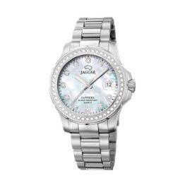 Jaguar Executive Diver – J892/1 – Quartz ur og vandtæt til 20 ATM. Uret har safirglas, en urkasse i rustfrit stål, perlemor urskive, stål lænke og måler 35mm i diameter.