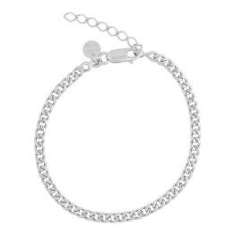 Aqua Dulce – Amanda – 4407 – Armbånd i sølv med panser mønster. Mål: 17+3cm