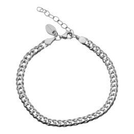 Aqua Dulce – Momse – 3408 – Armbånd i sølv med bismark mønster. Længde: 17+3cm